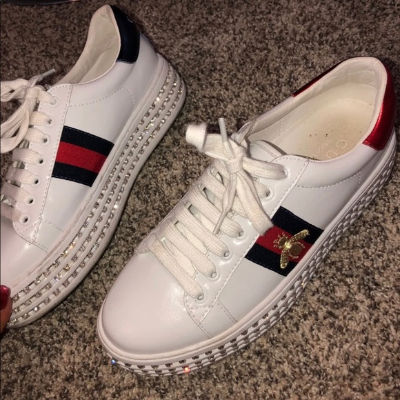 420cc25d8f7 Gucci Shoes | Ace Sneakers With Crystals | Poshmark